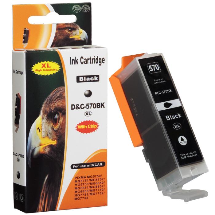 Kompatibel Canon PGI-570 XL, 0318C001 PGBK Schwarz Black...