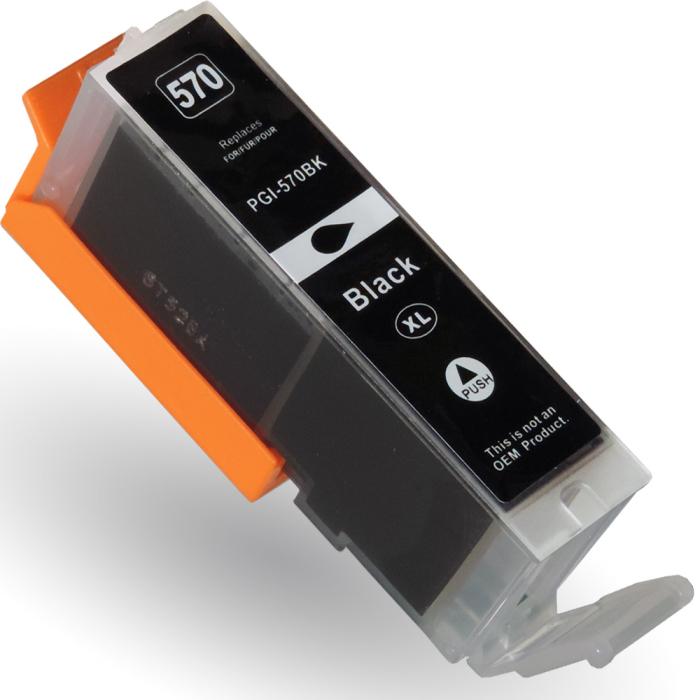 Kompatibel Canon PGI-570 XL, 0318C001 PGBK Schwarz Black pigmentiert Druckerpatrone für 500 Seiten von D&C