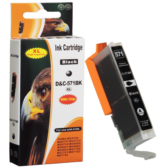 Kompatibel Canon CLI-571 XL, 0331C001 BK Schwarz Black...