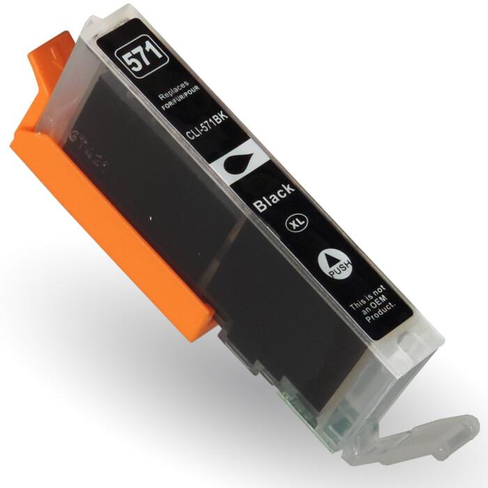 Kompatibel Canon CLI-571 XL, 0331C001 BK Schwarz Black Druckerpatrone für 810 Seiten von D&C