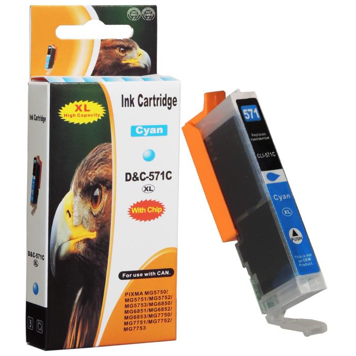 Kompatibel Canon CLI-571 XL, 0332C001 C Cyan Blau...