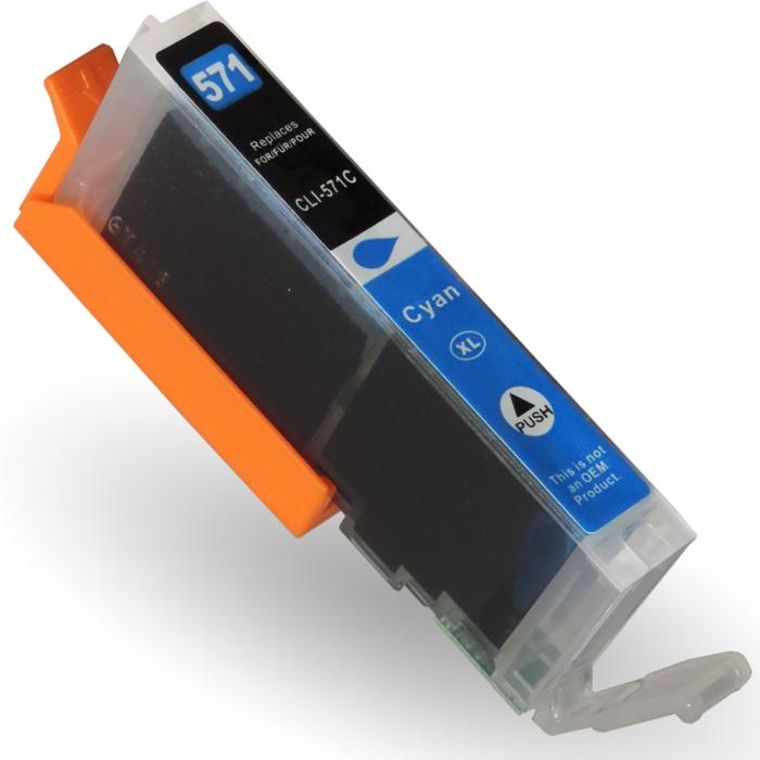Kompatibel Canon CLI-571 XL, 0332C001 C Cyan Blau Druckerpatrone für 785 Seiten von D&C