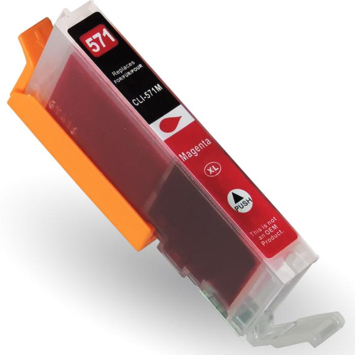 Kompatibel Canon CLI-571 XL, 0333C001 M Magenta Rot Druckerpatrone für 730 Seiten von D&C