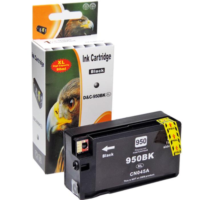 Kompatibel HP 950XL, CN045AE BK Schwarz Black Druckerpatrone für 2.400 Seiten von D&C