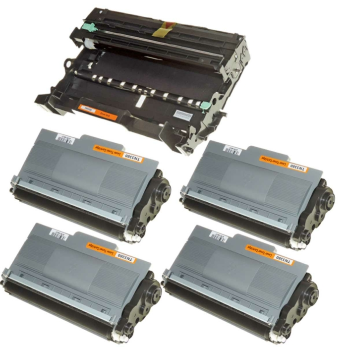 Kompatibel Brother DR-3300 & 4x TN-3380 Trommel und...