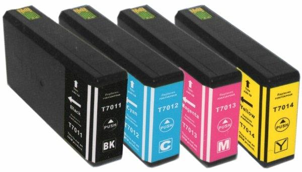 Kompatibel 4er Set Epson T702, Pyramiden, Big Ben,...