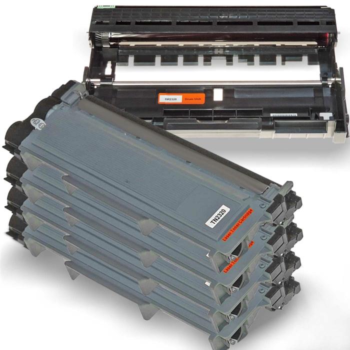 Kompatibel Brother DR-2300 & 4x TN-2320 XL Trommel...