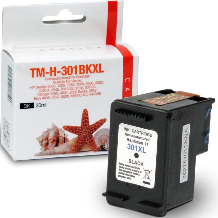 Wiederbefüllt HP 301XL, CH563EE BK Schwarz Black Druckerpatrone für 480 Seiten von Gigao
