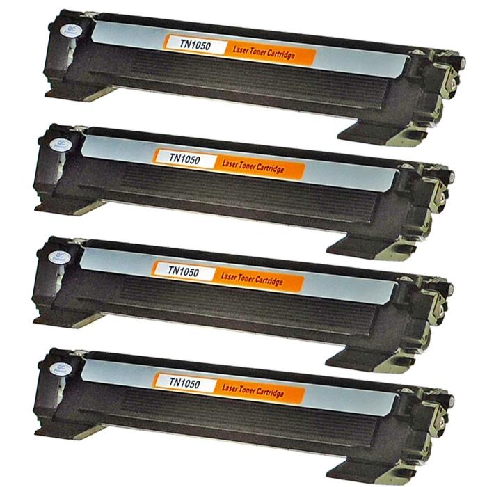 Kompatibel Brother TN-1050 XXL Toner Multipack 4 schwarze...