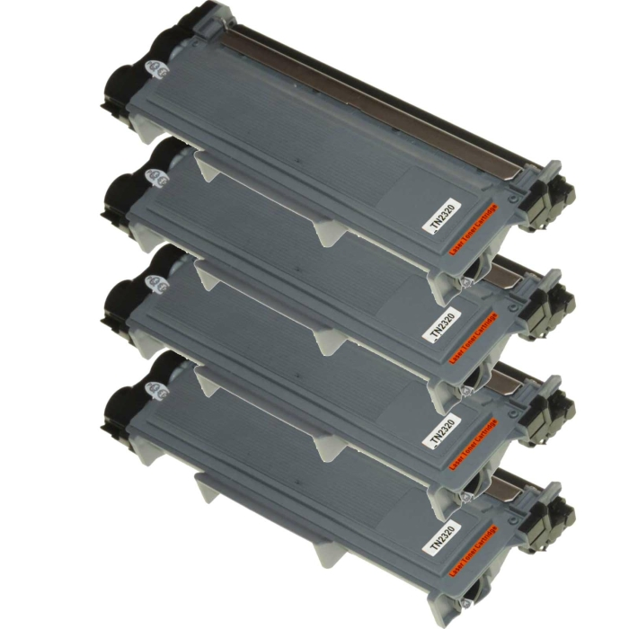 Kompatibel Brother TN-2320 XL Toner Multipack 4 schwarze...