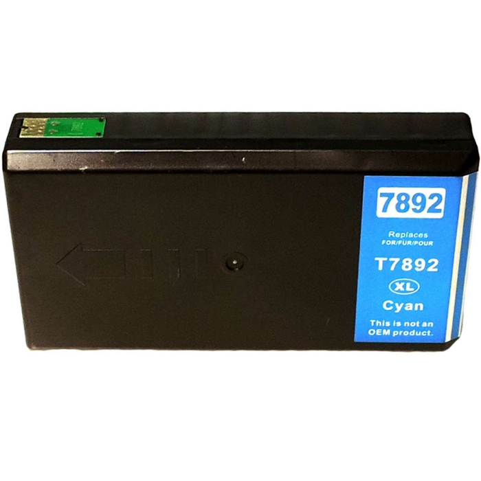 Kompatibel Epson C13T78924010, T7892, 78XL C Cyan Blau...