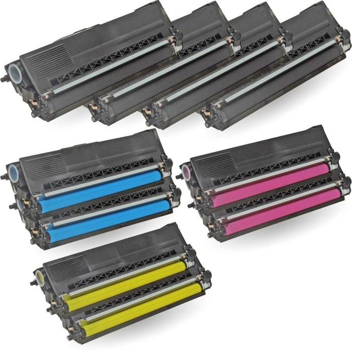 Kompatibel Brother TN-325 10er Set Toner Patronen Sparset alle Farben von D&C