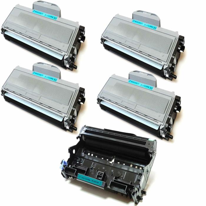 Kompatibel Brother DR-2100 & 4x TN-2120 Trommel und...