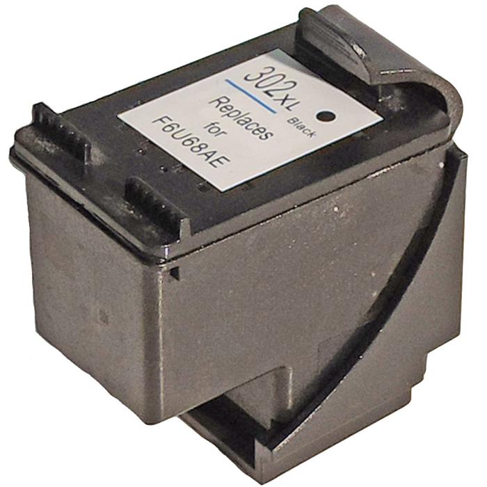 Wiederbefüllt HP F6U68AE, 302XL BK Schwarz Black Druckerpatrone für 480 Seiten von Gigao