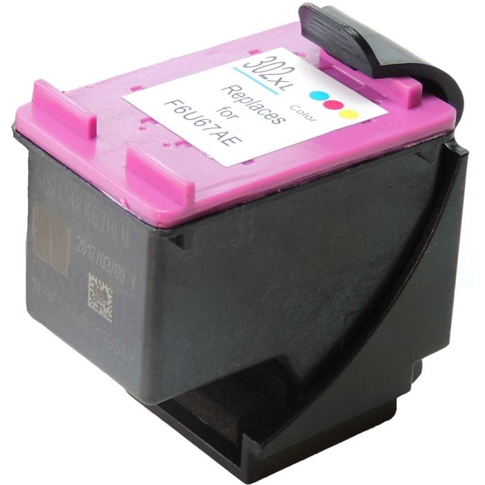 Wiederbefüllt HP F6U67AE, 302XL C Color Cyan /...