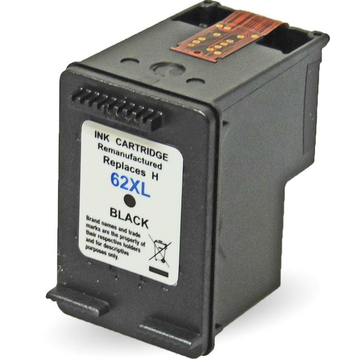 Wiederbefüllt HP 62XL, C2P05AE BK Schwarz Black...