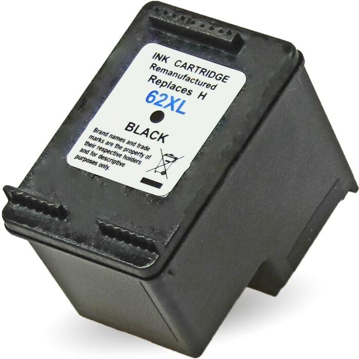 Wiederbefüllt HP 62XL, C2P05AE BK Schwarz Black Druckerpatrone für 600 Seiten von Gigao