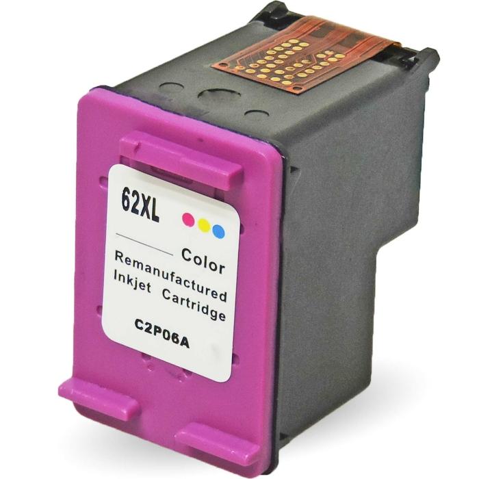 Wiederbefüllt HP 62XL, C2P07AE C Color Cyan /...