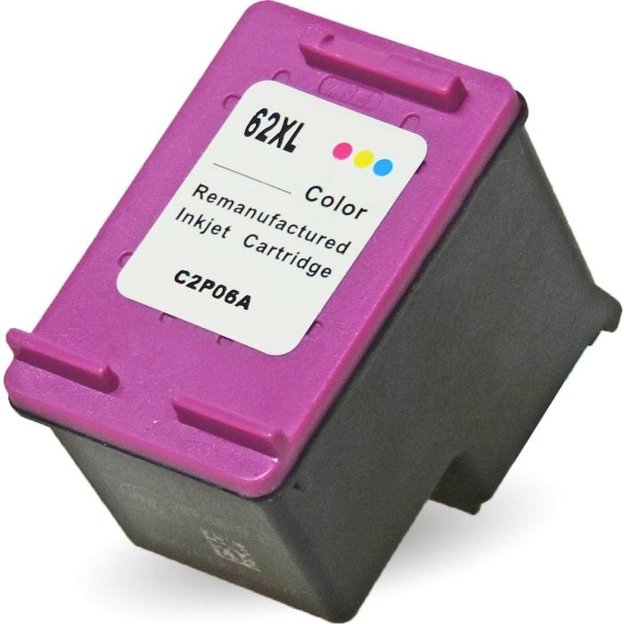 Wiederbefüllt HP 62XL, C2P07AE C Color Cyan / Magenta / Gelb Druckerpatrone für 415 Seiten von Gigao