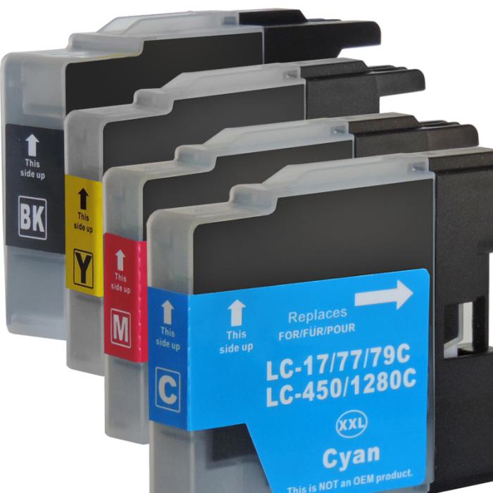 Kompatibel Brother LC-1280 XXL Set 4 Druckerpatronen von...