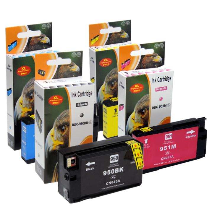 Kompatibel 4er Set HP 950XL, 951XL, C2P43AE Druckerpatronen Tinte von D&C