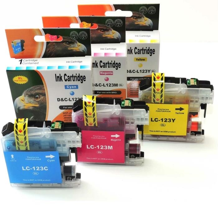Kompatibel Brother LC-123 XL 3er Set Rainbow Pack...
