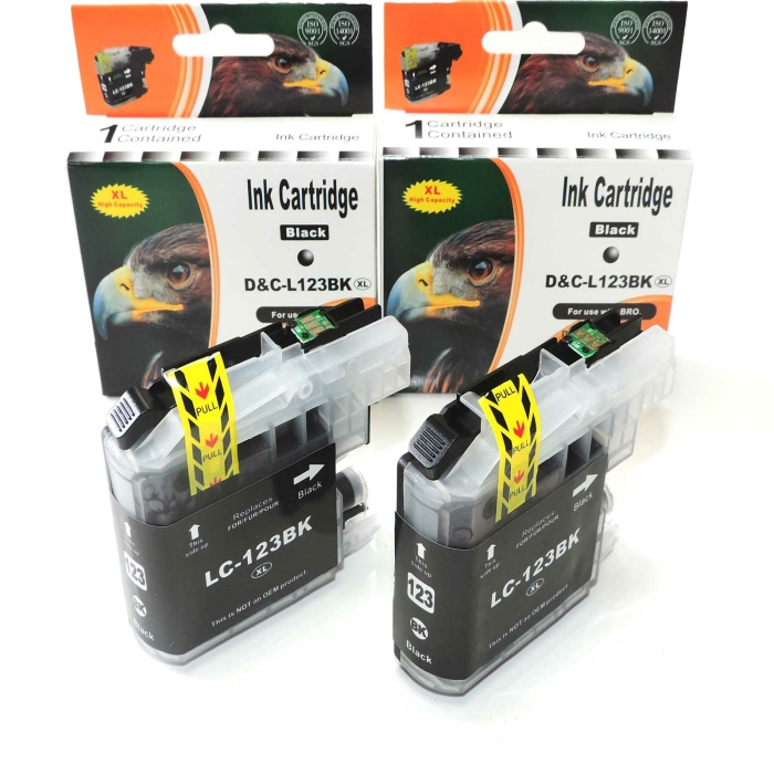 Kompatibel 2x Brother LC-123 XL BK Black Multipack...