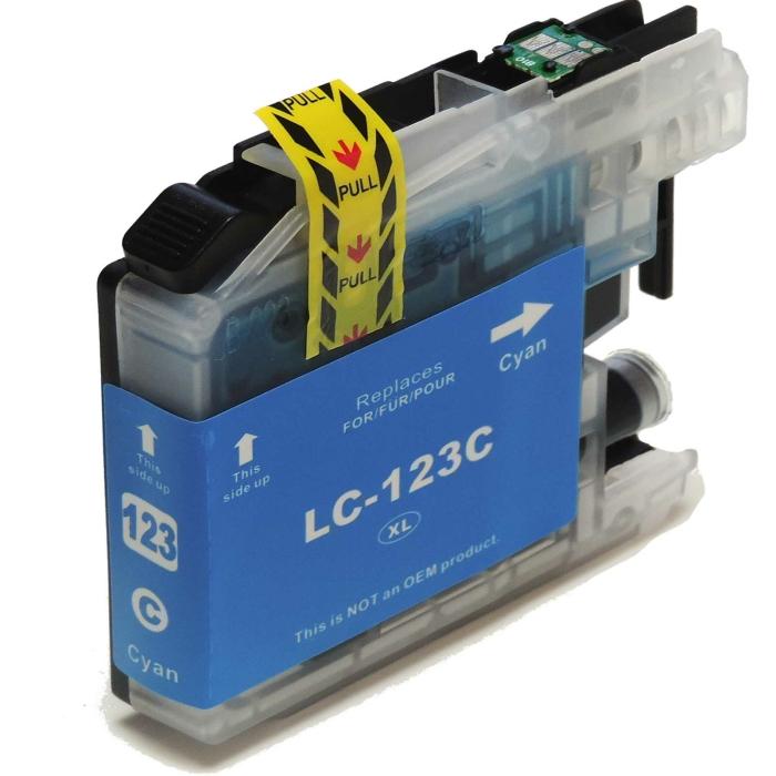 Kompatibel Brother LC-123 XL C Cyan Blau Druckerpatrone...