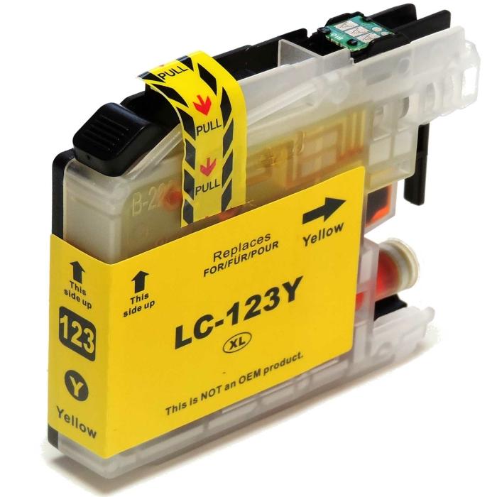 Kompatibel Brother LC-123 XL Y Yellow Gelb Druckerpatrone...