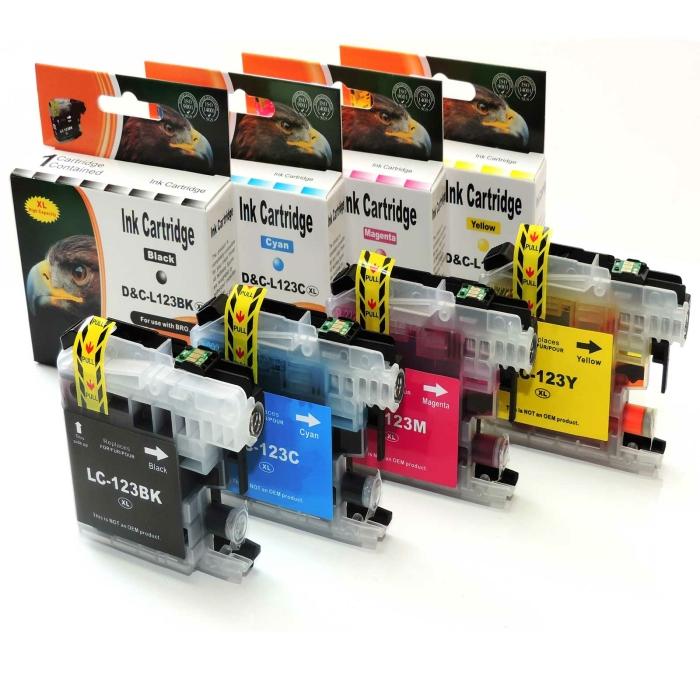 Kompatibel Brother LC-123 XL Set 4 Druckerpatronen von...
