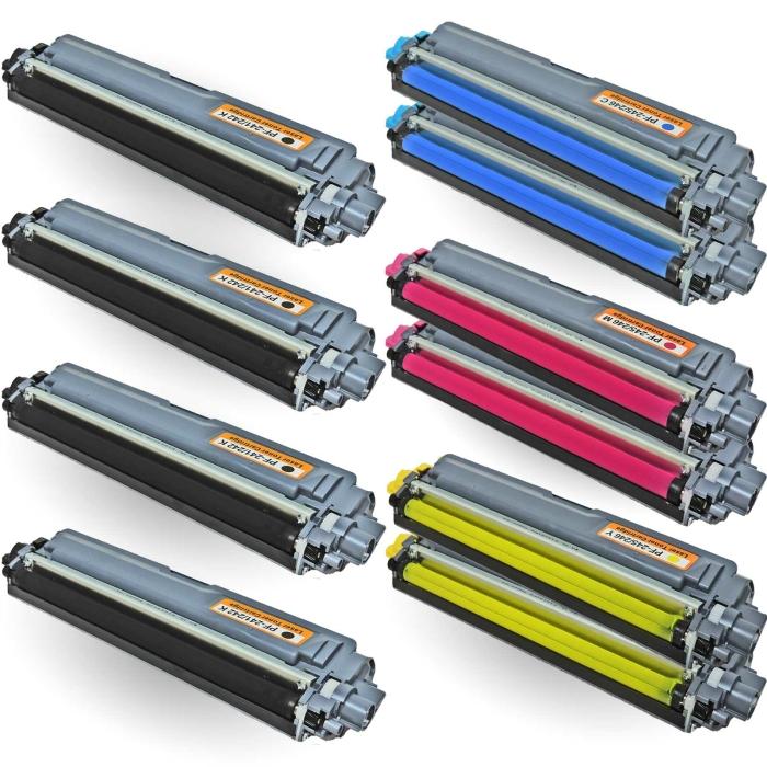 Kompatibel Brother TN-241, TN-245 10er Set Toner Patronen Sparset alle Farben von D&C