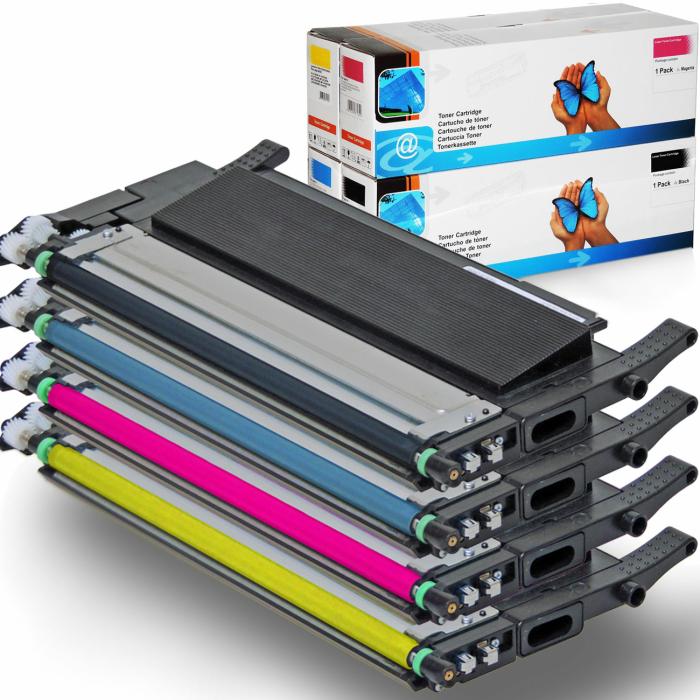 Kompatibel Samsung CLT-K406S, CLT-C406S, CLT-M406S, CLT-Y406S Sparset 4 Toner alle Farben von D&C