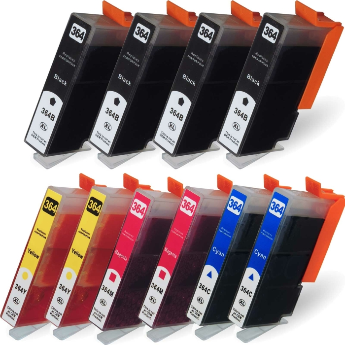Kompatibel 10x Tinte HP HP364XL Patronen Marke DC HP-364...