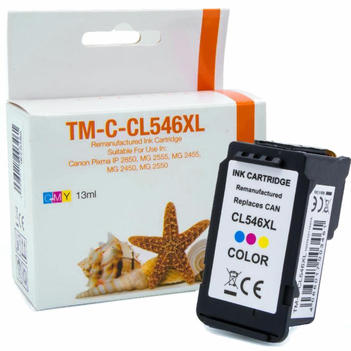 Wiederbefüllt 2er Set Canon PG-545XL BK + CL-546XL C Druckerpatronen wiederbefüllt Schwarz + alle Farben von Gigao