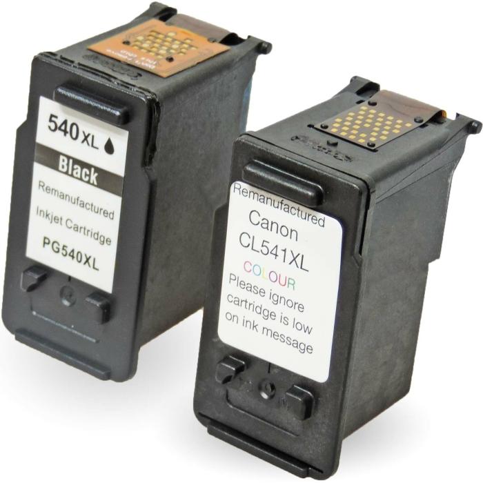 Wiederbefüllt 2er Set Canon PG-540XL BK + CL-541XL C...