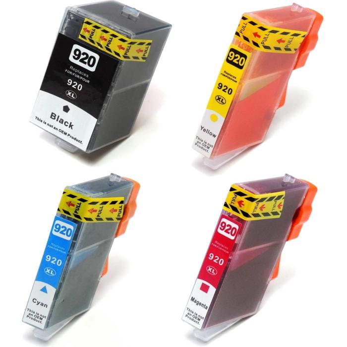 Kompatibel 4er Set HP 920XXL, 920XL, C2N92AE...