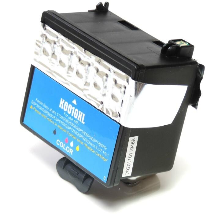 Wiederbefüllt 2er Set Kodak 10XL BK 3949930 + 10XL C 3949922 Druckerpatronen wiederbefüllt Schwarz + alle Farben von Gigao