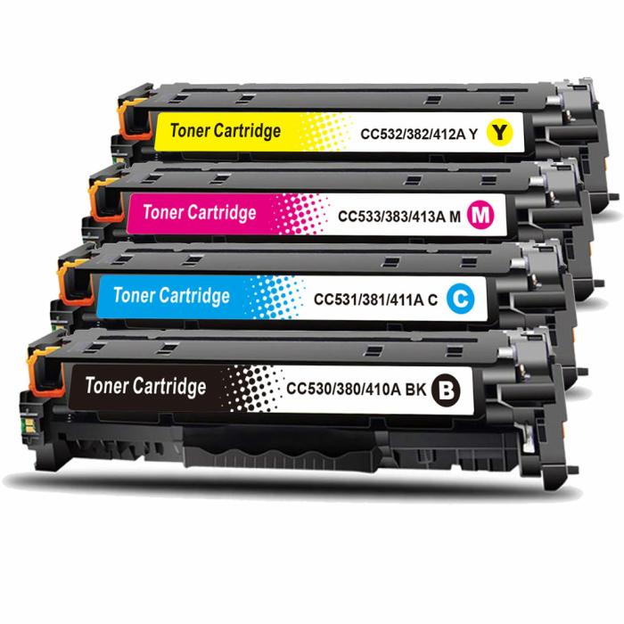 Set kompatibel HP CE410X, CE411A, CE413A, CE412A Sparset...