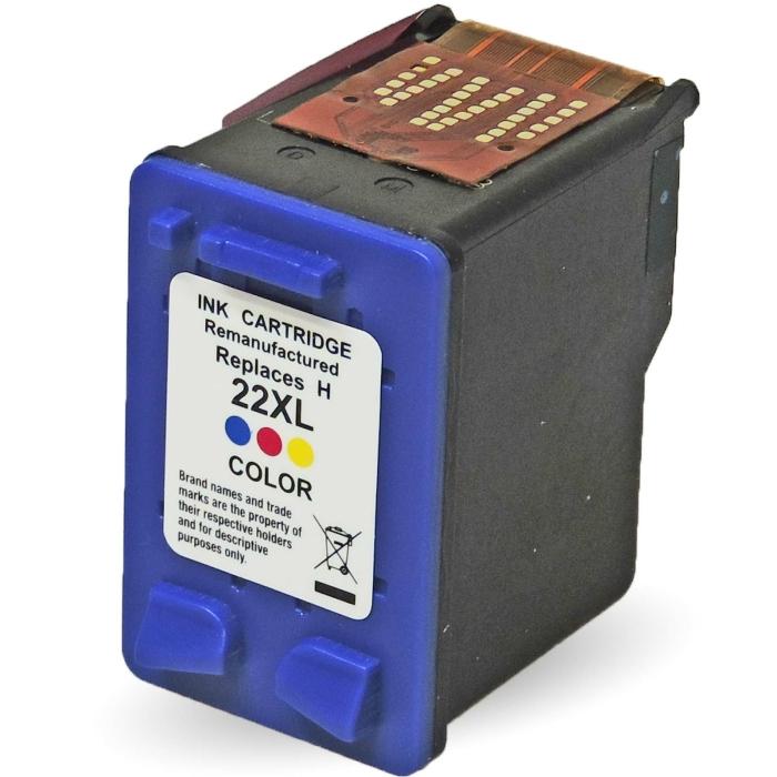 Wiederbefüllt HP 22XL, C9352AE C Color Cyan /...