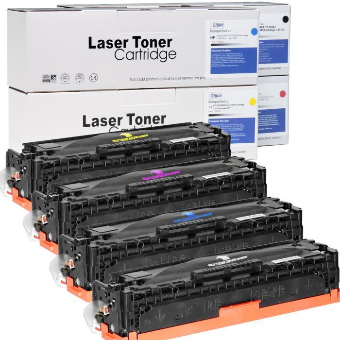 Kompatibel HP CF210X, CF211A, CF213A, CF212A Sparset 4 Toner alle Farben von D&C