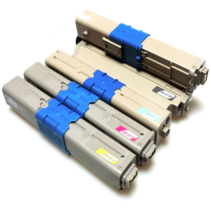 Kompatibel 4 Toner Oki C321 alle Farben C301DN C321DN...