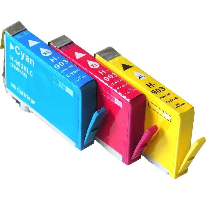 Kompatibel 3er Set HP 903XL, 1CC20AE Druckerpatronen alle...