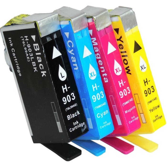 Kompatibel 4er Set HP 903XL Druckerpatronen Tinte von...