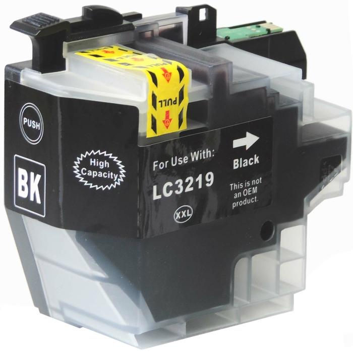 Kompatibel Brother LC-3219 XXL BK Schwarz Black Druckerpatrone für 3.000 Seiten von D&C