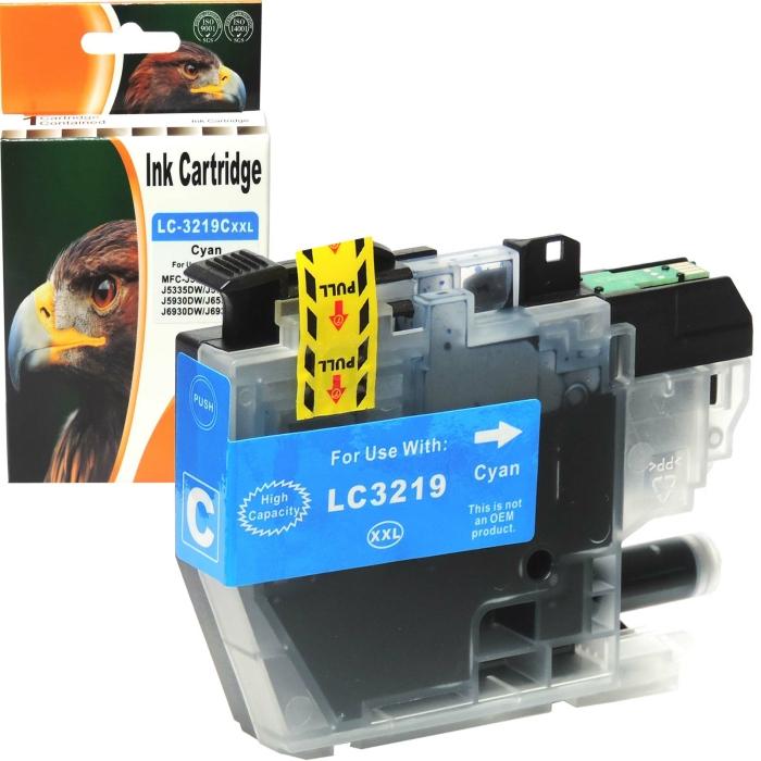 Kompatibel Brother LC-3219 XXL C Cyan Blau Druckerpatrone...