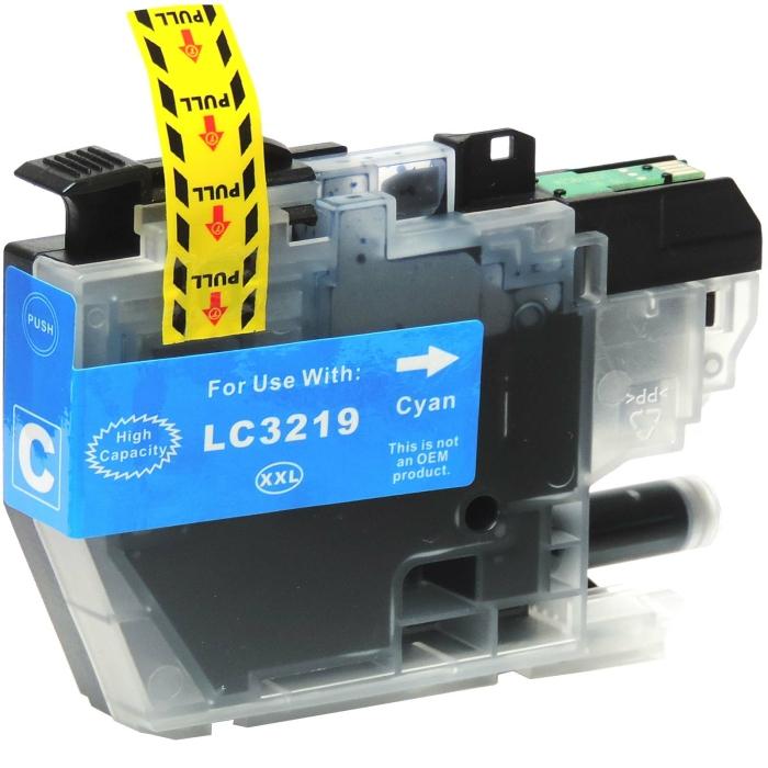 Kompatibel Brother LC-3219 XXL C Cyan Blau Druckerpatrone für 1.500 Seiten von D&C