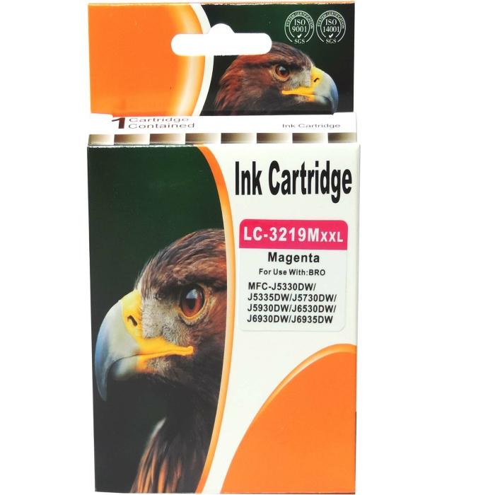 Kompatibel Brother LC-3219 XXL M Magenta Rot Druckerpatrone für 1.500 Seiten von D&C