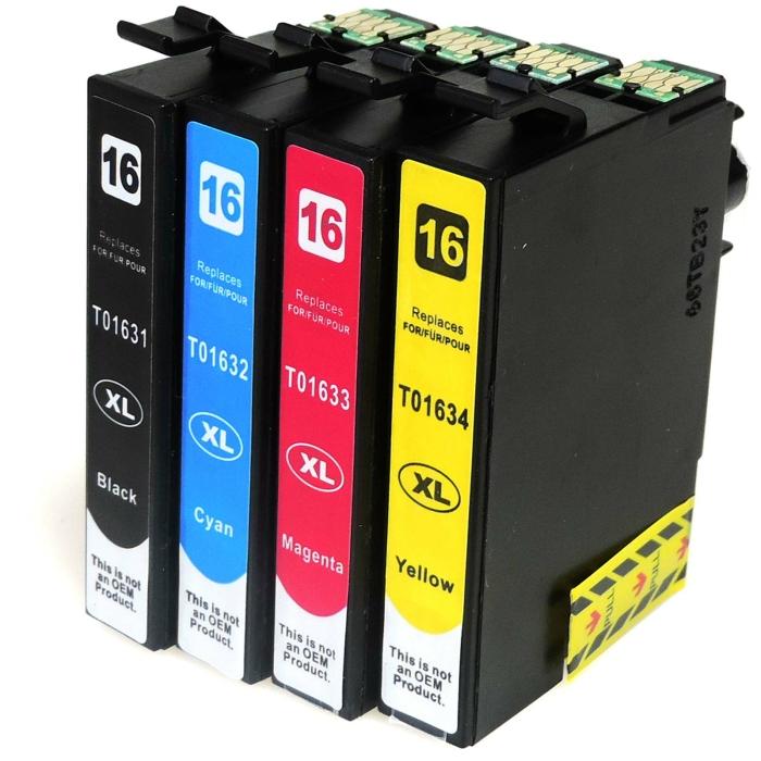 Kompatibel 4er Set Epson 16XL, Füller, T1636,...