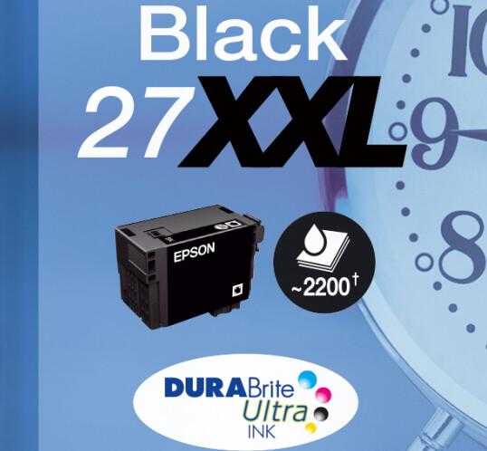 Original Epson Tinte T2791 27XXL Schwarz C13T27914012