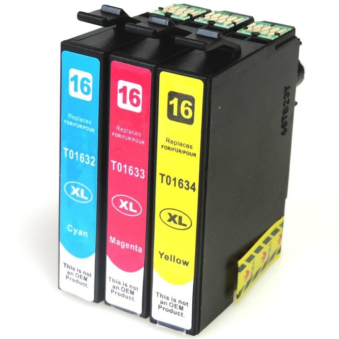 Kompatibel 3er Set Epson 16XL, Füller, T1636,...